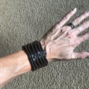 American Eagle brown leather bracelet